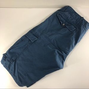 Levi's Mens Blue 100% Cotton Cargo Shorts Size 32W